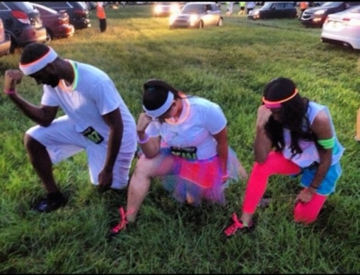 tebowing, neon run, fitness, gators, little bliss book