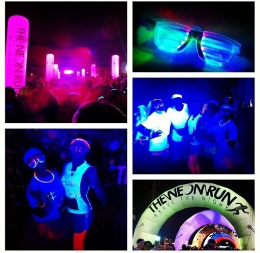 neon run, fitness, little bliss book