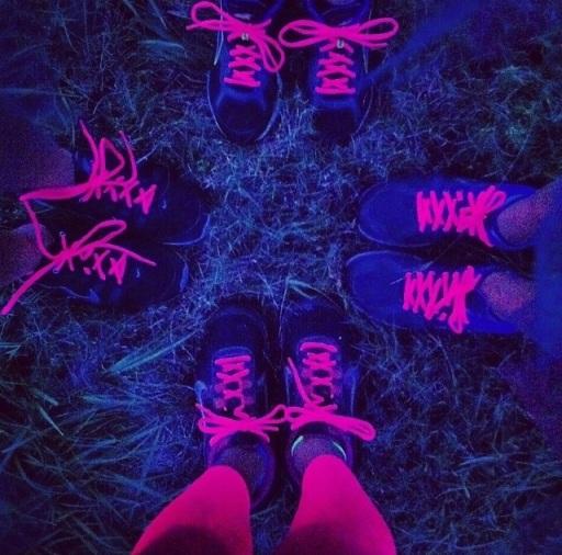 neon run, little bliss book, fitness